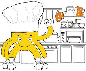 Dibujos para Colorear de Cocina