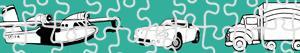 Colorear Puzzles de Transportes