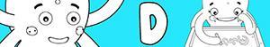 Colorear Nombres de Niña con D