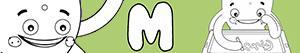 Colorear Nombres de Niño con M