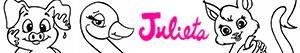 Colorear Los animalitos de Julieta