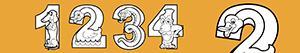 Colorear Números como animales