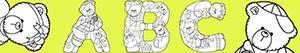 Colorear Letras con osos
