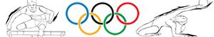 Colorear Deportes olímpicos. Atletismo. Gimnasia. Pruebas combinadas
